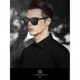 Veithdia Kacamata Retro UV Polarized Sunglasses - 6108 - Yellow - 4