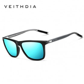 Veithdia Kacamata Retro UV Polarized Sunglasses - 6108 - Blue - 1