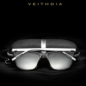 Veithdia Kacamata Retro UV Polarized Sunglasses - 6108 - Blue - 3
