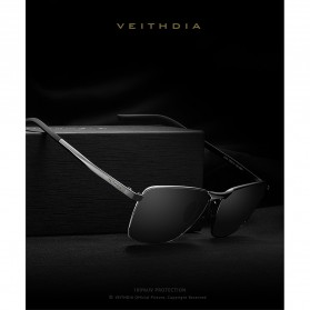Veithdia Kacamata Vintage UV Polarized Sunglasses - 2462 - Blue - 3