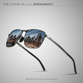 Veithdia Kacamata Vintage UV Polarized Sunglasses - 2462 - Blue - 5