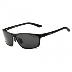 Veithdia Kacamata Designer UV Polarized Sunglasses - 6520 - Black