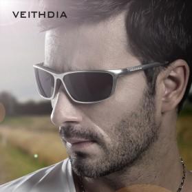 Veithdia Kacamata Designer UV Polarized Sunglasses - 6520 - Black - 2