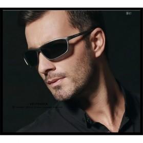 Veithdia Kacamata Designer UV Polarized Sunglasses - 6520 - Black - 6