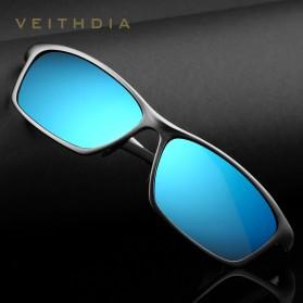 Veithdia Kacamata Designer UV Polarized Sunglasses - 6520 - Black - 7