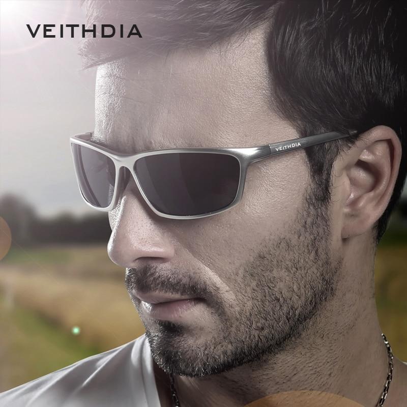 ... Veithdia Kacamata Designer UV Polarized Sunglasses - 6520 - Black - 2  ... 7a666c1c93
