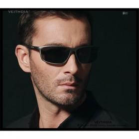 Veithdia Kacamata Designer UV Polarized Sunglasses - 6520 - Blue - 5