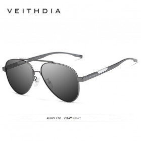 Veithdia Kacamata Photochromic UV Polarized Sunglasses - 6699 - Black