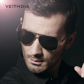 Veithdia Kacamata Photochromic UV Polarized Sunglasses - 3152 - Black - 4