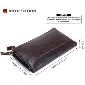 MISFITS Dompet Clutch Pria Bahan Kulit - 9047 - Brown - 4