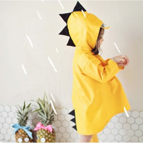 Vilead Jas Hujan Anak Model Dinosaurus Nylon Raincoat Size XL- RC005 - Yellow