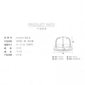 Wuke Topi Snapback Woodie Visor - LISM-022 - Black - 7