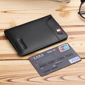 Rhodey Dompet Kulit Pria Business Wallet - PJ-04 - Black - 6