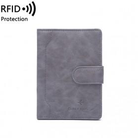 LORETI Dompet Kartu Casual Wallet Bahan Kulit PU - 1652 - Gray