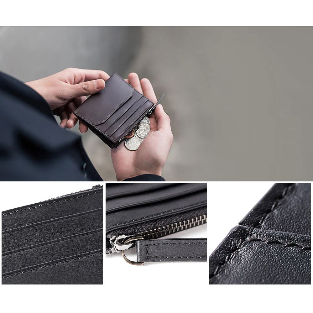 Xiaomi Dompet Kartu 90 Points Simple Card and Coin Wallet - Black - 6 .