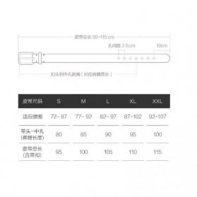 Xiaomi Mijia Qimian Tali Ikat Pinggang Pria Cow Genuine Leather Size XL - B3506 - Black - 10