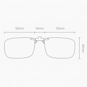 Xiaomi TS Turok Steinhardt Klip Lensa Kacamata Anti-Blue Ray - FM139-0221 - Transparent - 3