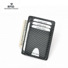 BUBM Dompet Kartu Anti RFID Bahan Kulit Slim Design - TQ-301 - Black - 1