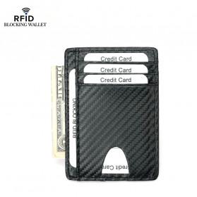 BUBM Dompet Kartu Anti RFID Bahan Kulit Slim Design - TQ-301 - Black - 2
