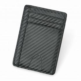 BUBM Dompet Kartu Anti RFID Bahan Kulit Slim Design - TQ-301 - Black - 3