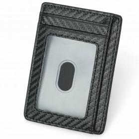 BUBM Dompet Kartu Anti RFID Bahan Kulit Slim Design - TQ-301 - Black - 4