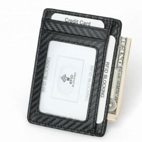 BUBM Dompet Kartu Anti RFID Bahan Kulit Slim Design - TQ-301 - Black - 5
