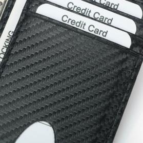 BUBM Dompet Kartu Anti RFID Bahan Kulit Slim Design - TQ-301 - Black - 6