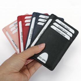 BUBM Dompet Kartu Anti RFID Bahan Kulit Slim Design - TQ-301 - Black - 7