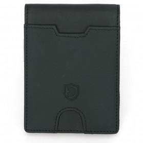BUBM Dompet Anti RFID Bahan Kulit Slim Design - YP-211/212 - Black - 8