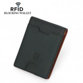 BUBM Dompet Anti RFID Bahan Kulit Slim Design - YP-211/212 - Black - 10