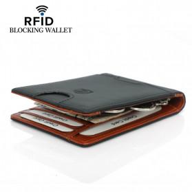 BUBM Dompet Anti RFID Bahan Kulit Slim Design - YP-211/212 - Black - 11