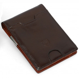 BUBM Dompet Anti RFID Bahan Kulit Slim Design - YP-211/212 - Brown