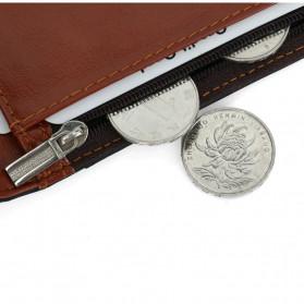 BUBM Dompet Anti RFID Bahan Kulit Slim Design - YP-211/212 - Brown - 3