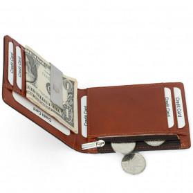 BUBM Dompet Anti RFID Bahan Kulit Slim Design - YP-211/212 - Brown - 4