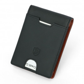 BUBM Dompet Anti RFID Bahan Kulit Slim Design - YP-211/212 - Brown - 5