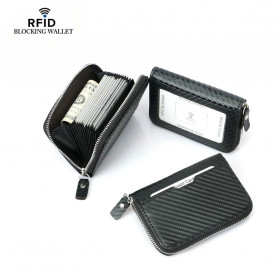 BUBM Dompet Kartu Anti RFID Bahan Kulit - TQ-310 - Black