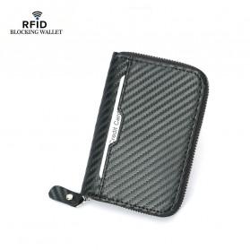 BUBM Dompet Kartu Anti RFID Bahan Kulit - TQ-310 - Black - 2