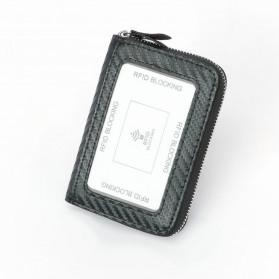 BUBM Dompet Kartu Anti RFID Bahan Kulit - TQ-310 - Black - 3