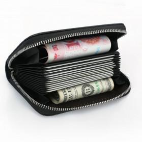 BUBM Dompet Kartu Anti RFID Bahan Kulit - TQ-310 - Black - 4