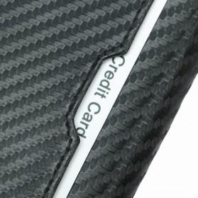 BUBM Dompet Kartu Anti RFID Bahan Kulit - TQ-310 - Black - 6