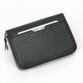 BUBM Dompet Kartu Anti RFID Bahan Kulit - TQ-310 - Black - 7