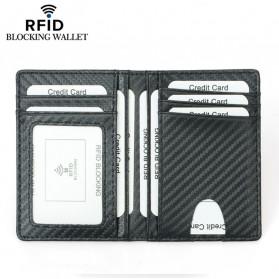 BUBM Dompet Kartu Anti RFID Bahan Kulit Slim Design - TQ-303 - Black - 3