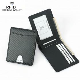 BUBM Dompet Kartu Anti RFID Bahan Kulit Slim Design - TQ-304 - Black - 2
