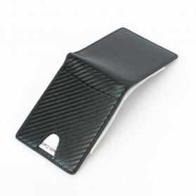 BUBM Dompet Kartu Anti RFID Bahan Kulit Slim Design - TQ-304 - Black - 3