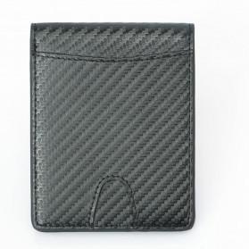 BUBM Dompet Kartu Anti RFID Bahan Kulit Slim Design - TQ-304 - Black - 4
