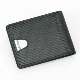BUBM Dompet Kartu Anti RFID Bahan Kulit Slim Design - TQ-304 - Black - 5