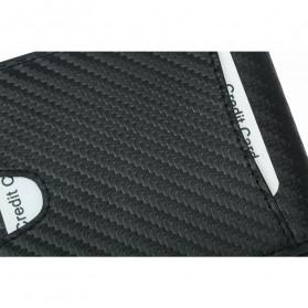BUBM Dompet Kartu Anti RFID Bahan Kulit Slim Design - TQ-304 - Black - 7