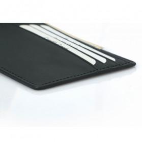 BUBM Dompet Kartu Anti RFID Bahan Kulit Slim Design - TQ-304 - Black - 8