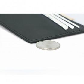 BUBM Dompet Kartu Anti RFID Bahan Kulit Slim Design - TQ-304 - Black - 9