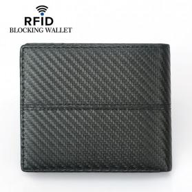 BUBM Dompet Kartu Anti RFID Bahan Kulit Slim Design - TQ-308 - Black